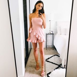Blush Romper with Ruffle Detail